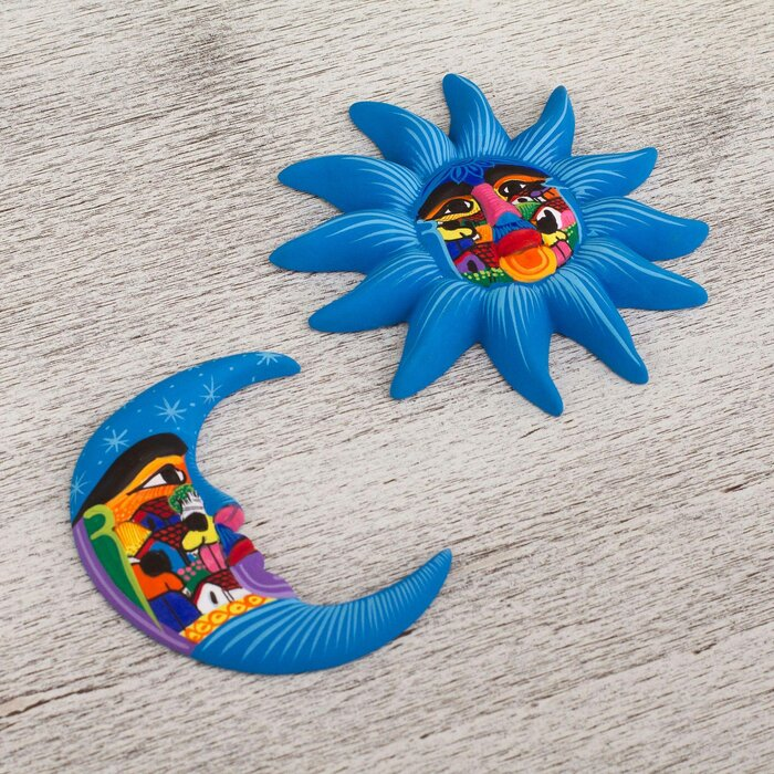 2 Piece Mexican Sky Ceramic Wall Décor Set