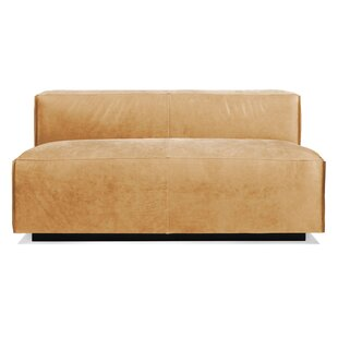 Cleon 56 Armless Leather Sofa by Blu Dot