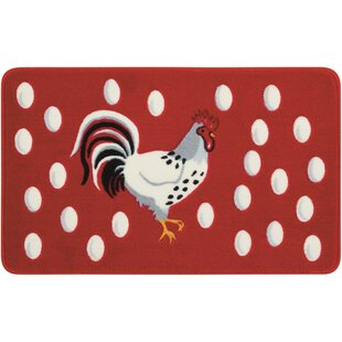 Read Reviews Greenmeadow Red/White Novelty Rug By August Grove