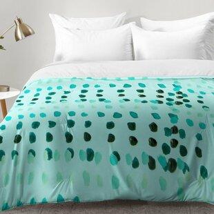 East Urban Home Aqua Dashes Comforter Set