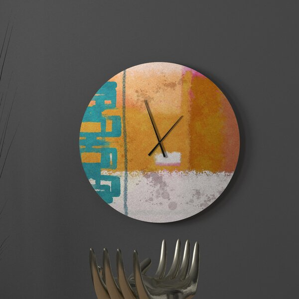 Latitude Run Groovy Disarming Abstract Metal Wall Clock Wayfair