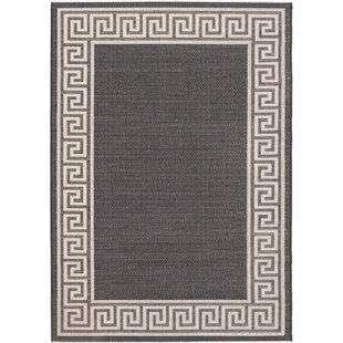 Affordable Avelina Casual Black Indoor/Outdoor Area Rug By Winston Porter