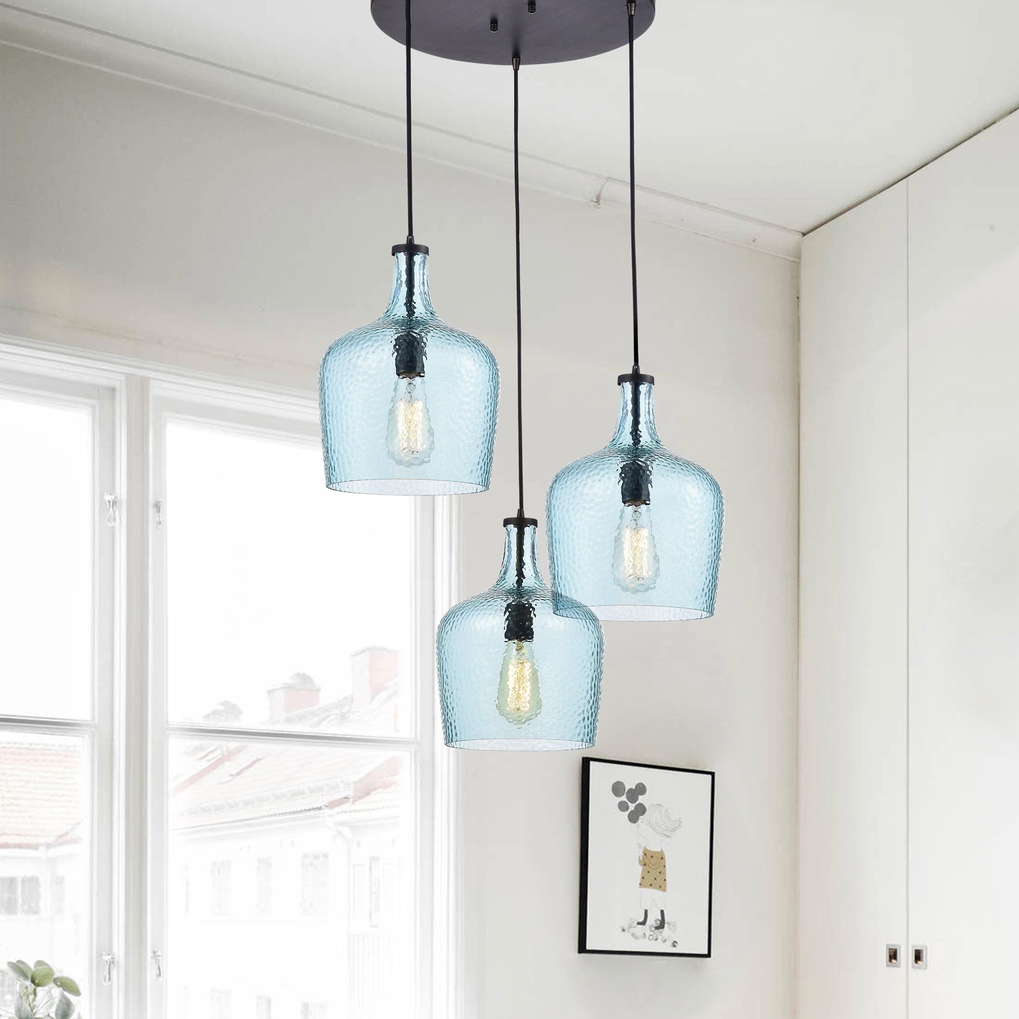 gracie oaks psyche 3 light cluster pendant reviews wayfair