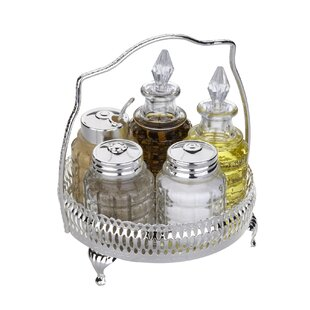 Queen Anne 6 Piece Round Cruet Set