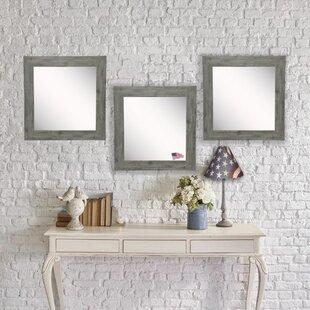 Union Rustic Orvis Barnwood Accent Mirror (Set of 3)