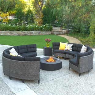 Stoneman 10 Piece Sectional Set with Cushions