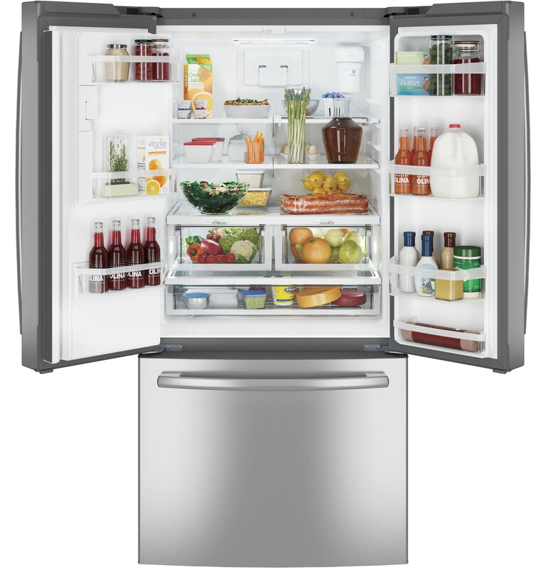 Ge Appliances 238 Cu Ft Energy Star French Door Refrigerator