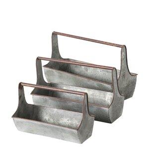 Nichole 3 Piece Metal Planter Box Set By Freeport Park