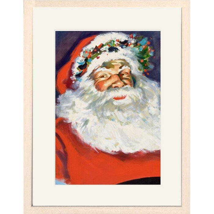 Buyenlarge Portrait of Santa Claus Framed Print of Painting | Wayfair