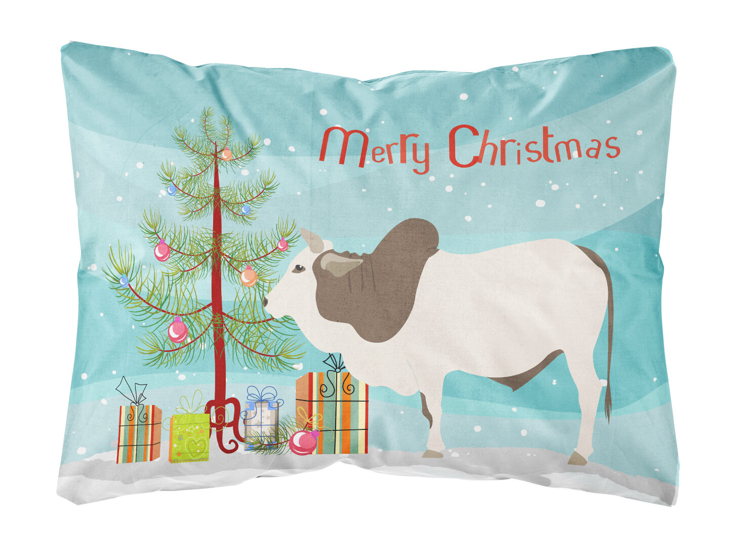 The Holiday Aisle Northridge Malvi Cow Christmas Indoor Outdoor Throw Pillow Wayfair