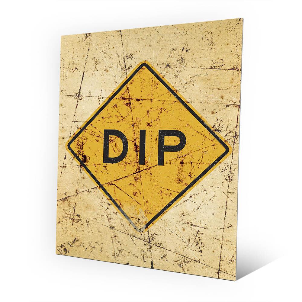 Click Wall Art \'Dip in Road Scratch\' Wall Art on Plaque | Wayfair