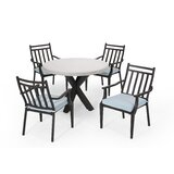 Mabel Outdoor 5 Piece Dining Set with Cushions