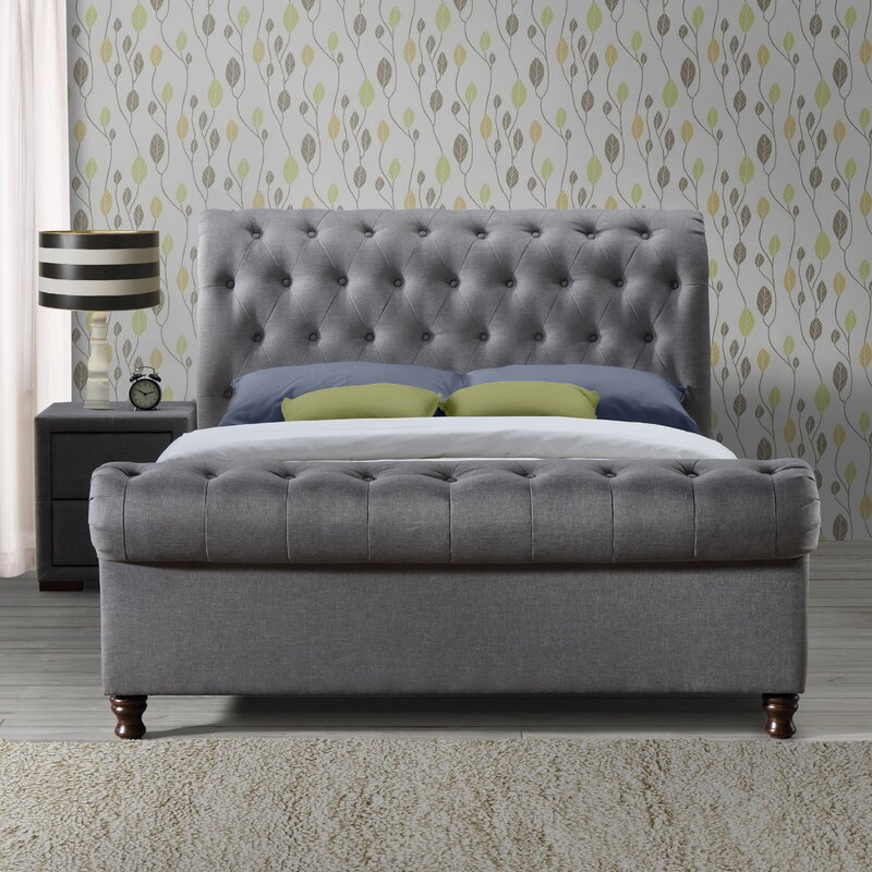 fantastic ideas best for on pinterest tufted grey beds upholstered bed sleigh