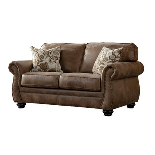 Darby Home Co Sandhurst Acanva Contemporary Leathaire Loveseat