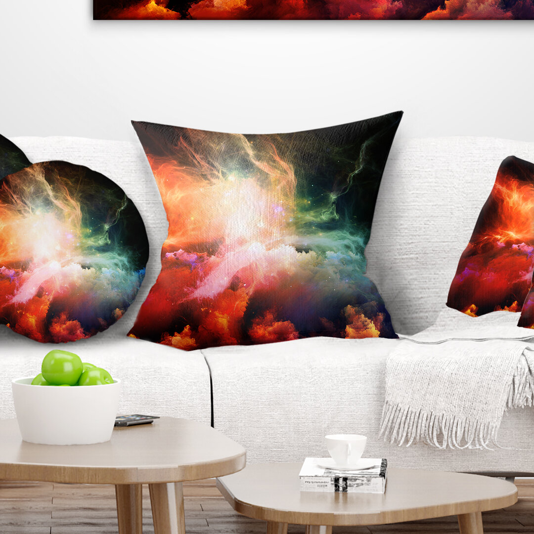East Urban Home Abstract Fabric Of Space And Time Throw Pillow Wayfair