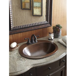 Find a Seville Copper Oval Drop-In Bathroom Sink with Overflow By Sinkology