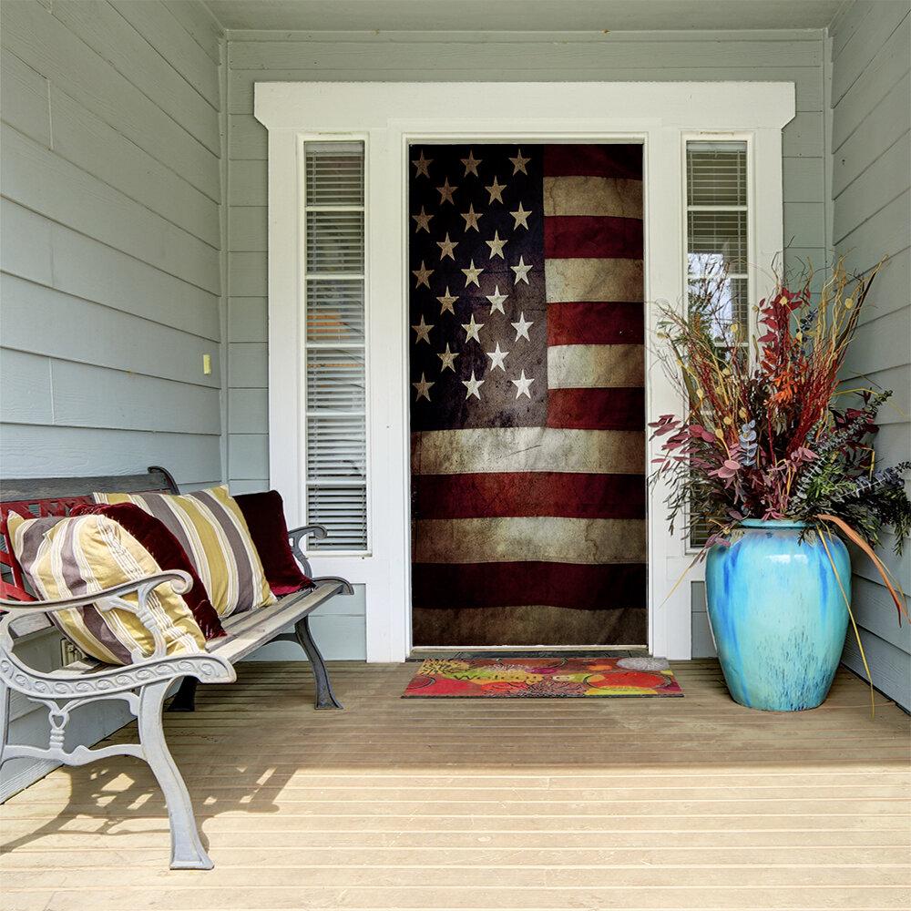 The Holiday Aisle American Flag Door Mural Wayfair