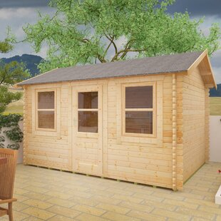 Sabre 14 X 8 Ft. Tongue And Groove Log Cabin By Tiger Sheds