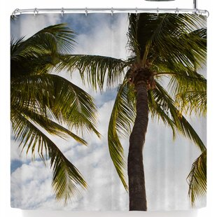 Mary Carol Fitzgerald Paradise Palms Single Shower Curtain