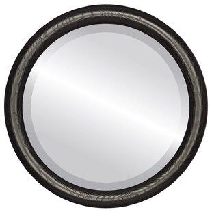 Charlton Home Wincanton Framed Round Accent Mirror