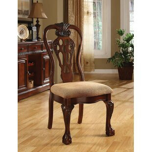 Shaffer Upholstered Dining Chair (Set of 2) Fleur De Lis Living