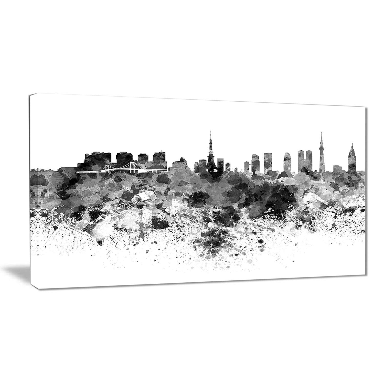 Designart Tokyo Skyline Cityscape Graphic Art On Wrapped Canvas Wayfair