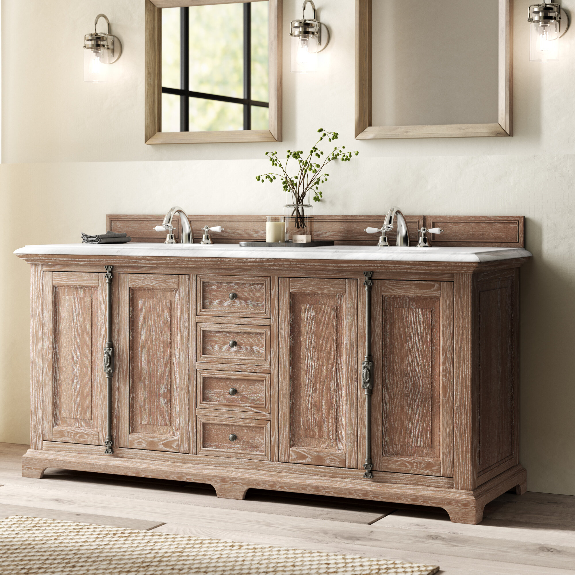 Swell Greyleigh Ogallala 72 Double Bathroom Vanity Set Reviews Home Interior And Landscaping Ferensignezvosmurscom