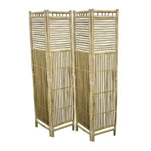70 5 X 65 5 Foldable Bamboo 4 Panel Room Divider