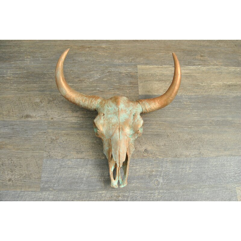 Download Bungalow Rose Faux Taxidermy Large Cow Skull Wall Décor ...