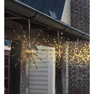 Wind & Weather Hanging Solar Twig Lights LED Outdoor Chandelier (Set of 2)