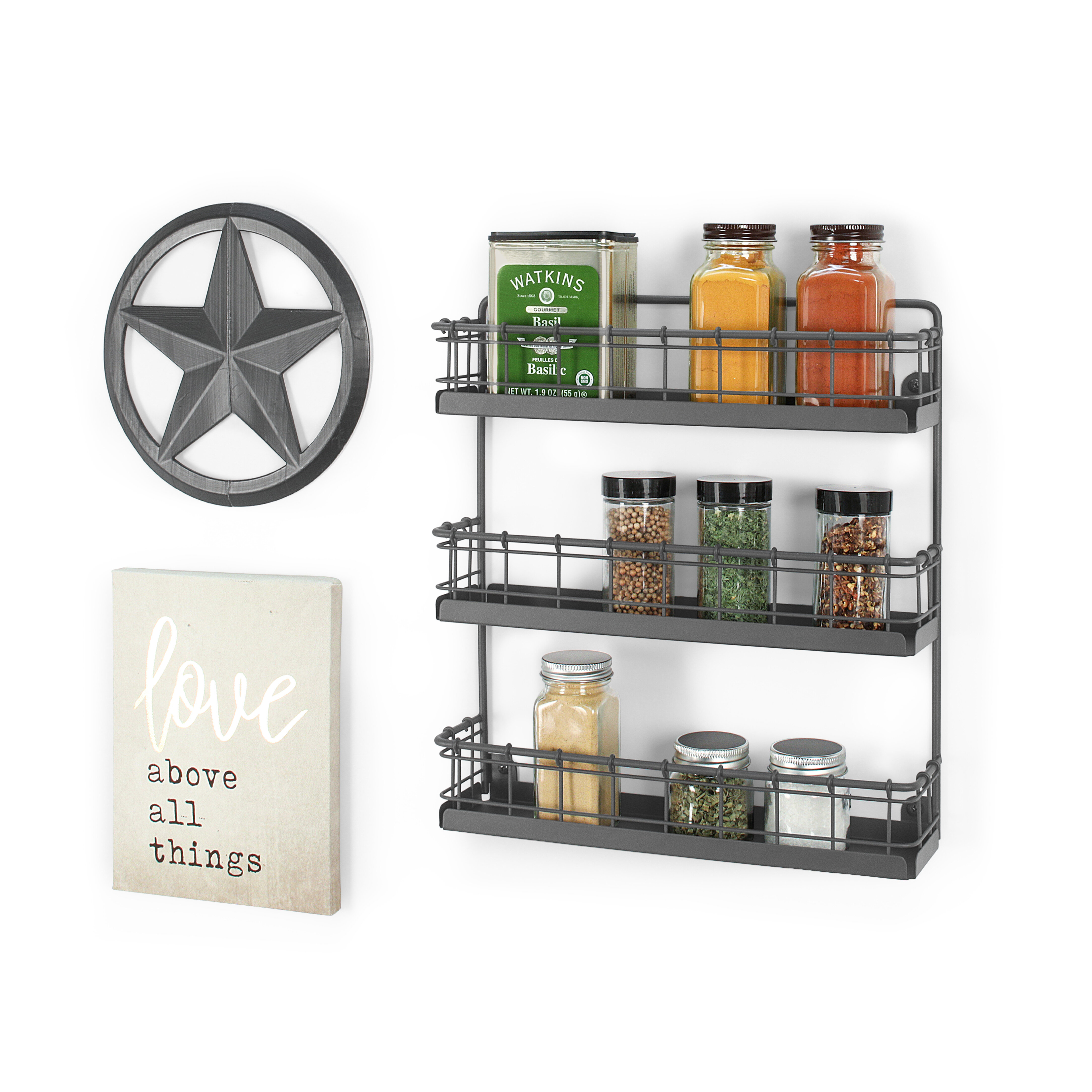 Rebrilliant Wall Mount Spice Rack Reviews Wayfair
