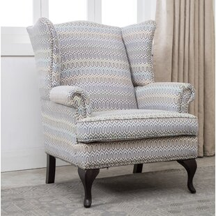 Medau Geometric Print Wingback Chair by Darby Home Co