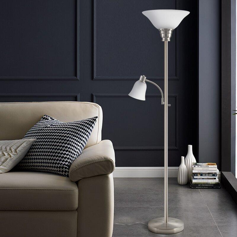 """Rok 10.10"""" Torchiere Floor Lamp"""