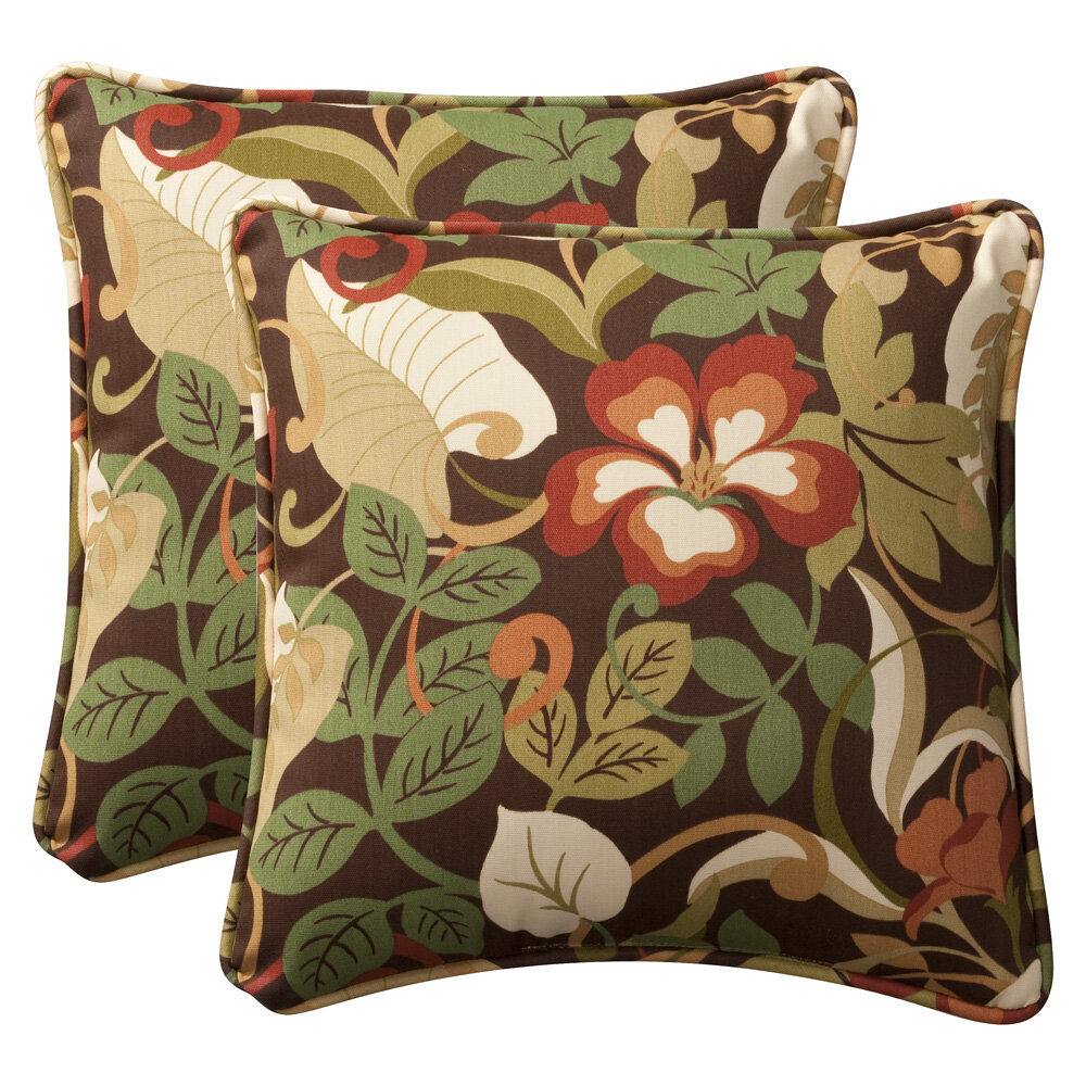 Green Traditional Outdoor Pillows You Ll Love In 2021 Wayfair