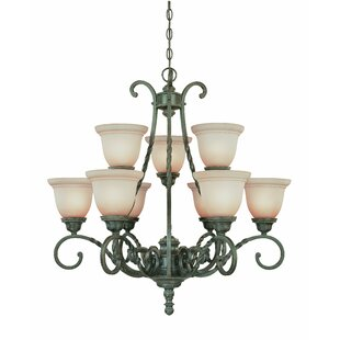 Westerleigh 9-Light Shaded Chandelier by Astoria Grand