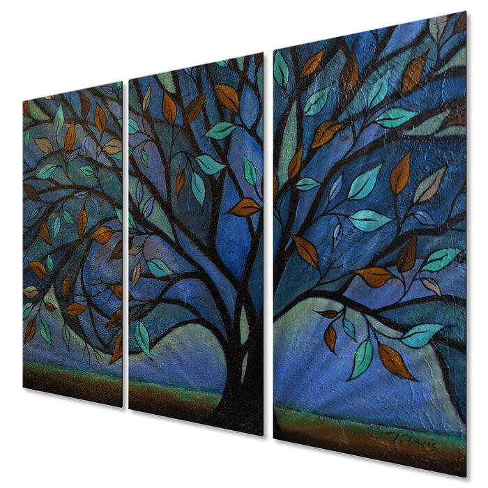 All My Walls Together Entwined By Peggy Davis 3 Piece Painting Set