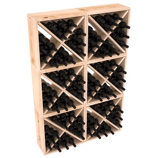 Karnes Pine Rustic Cube 144 Bottle Floor ..