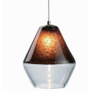 Viz Glass Encalmo 1-Light Geometric Pendant