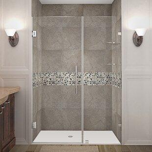 Bargain Nautis GS 46 x 72 Hinged Completely Frameless Shower Door ByAston