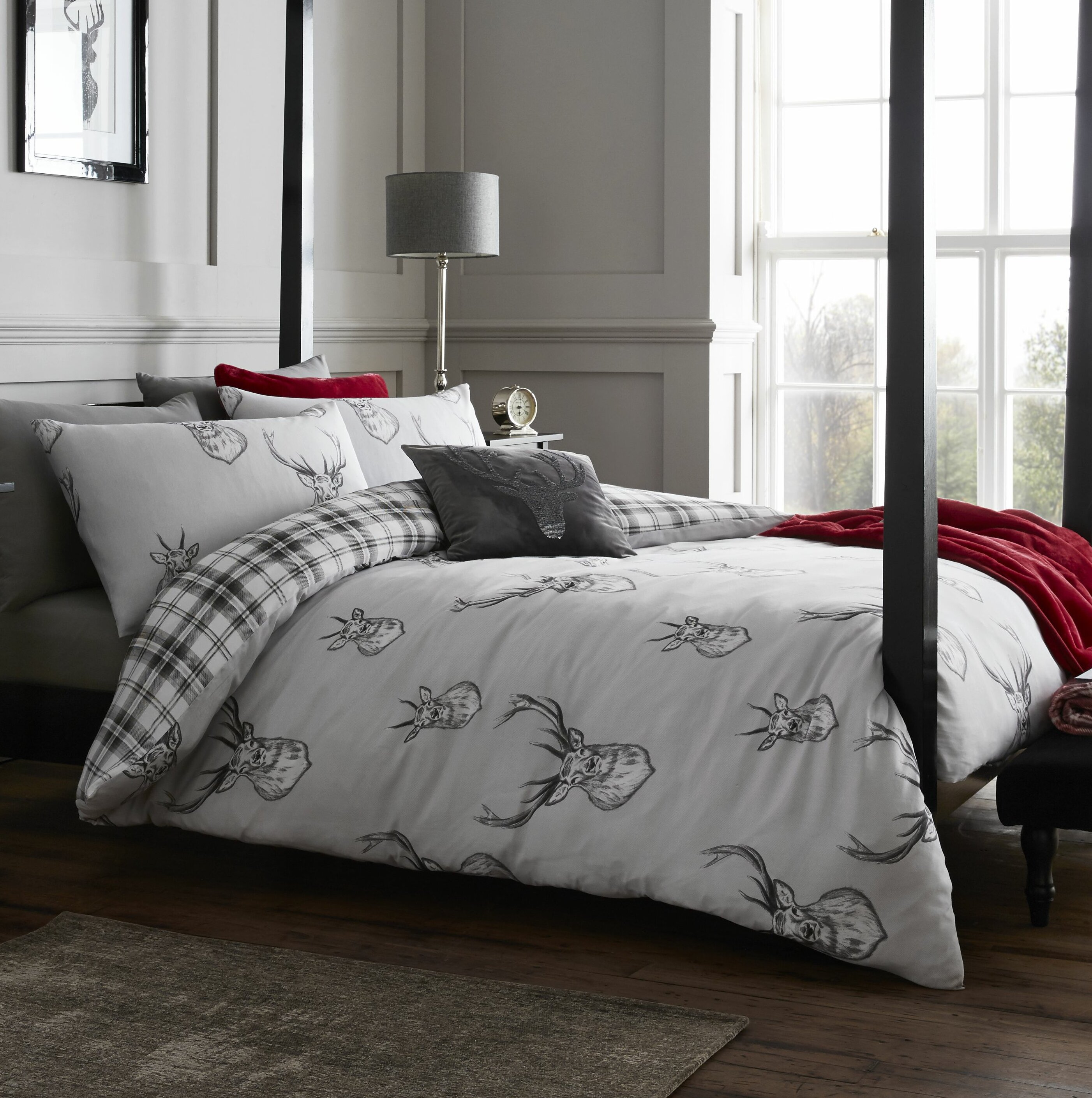 Catherine lansfield stag easy care duvet cover set reviews wayfair co uk