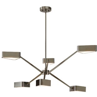 Orren Ellis Rafelo 6-Light Sputnik Chandelier
