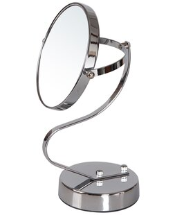 Read Reviews Double Sided Swivel S Head Shape Makeup Cosmetic Mirror ByAdeco Trading