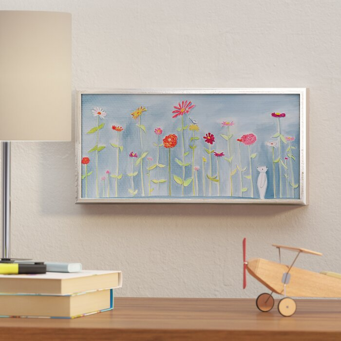 Sensational Chandra Blue Zinnia Garden Framed Art Home Interior And Landscaping Ologienasavecom