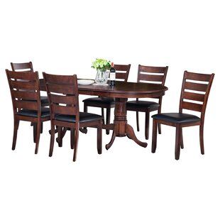 Darby Home Co Doretha 7 Piece Dining Set with Curved Back Chair