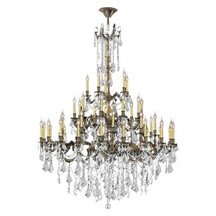 Astoria Grand Radtke 45-Light Glass Candle Style Chandelier