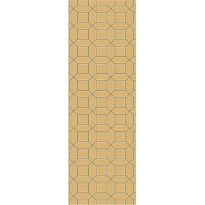 Brock Gold Geometric Area Rug