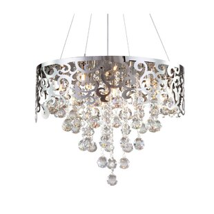House of Hampton Corette Laser Cut 6-Light Crystal Chandelier