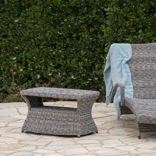 Hinkson Outdoor Wicker Side Table