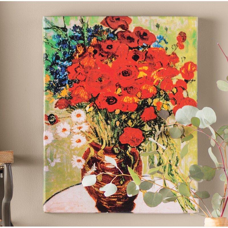 Poppy Flower Painting Vincent Van Gogh Flowers Healthy