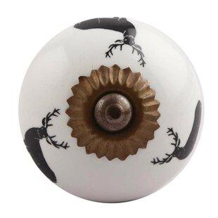 Reindeer Ceramic Mushroom Knob